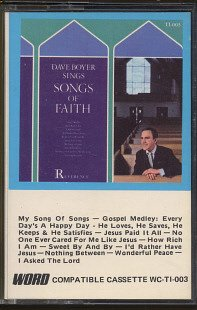 DAVE BOYER--SINGS SONGS OF FAITH Cassette Tape