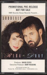 REBA & DONY--SUDDENLY Promotional Pre-Release Cassette Tape