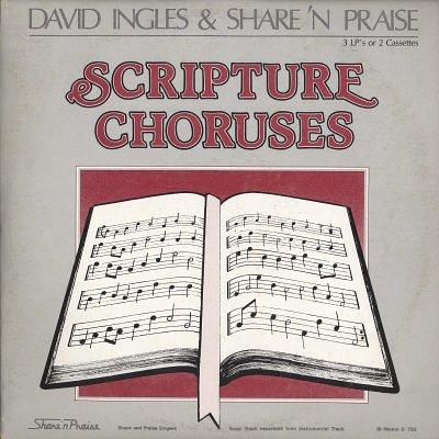 "DAVID INGLES & SHARE 'N PRAISE--Scripture Choruses Featuring ""Don't Shout Me Down"" 3-LP Set (Vinyl)"