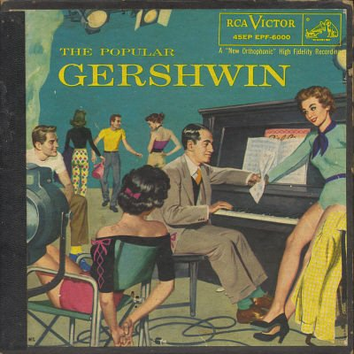 THE POPULAR GERSHWIN 45 RPM 6 RECORD EP Set (Missing Records 1 & 6)