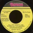 "GRADY NUTT--""ALL DAY SINGIN' AND DINNER ON THE GROUND!""/""MRS. MIDDLETON TAKES THE PLUNGE"" 45 RPM 7"""