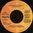 "RANDY STONEHILL--""LETTER TO MY FAMILY"" (4:58)/""GRANDFATHER'S SONG"" (3:24) 45 RPM 7"" Vinyl"