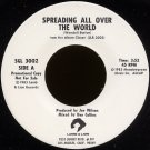 "WENDELL BURTON--""SPREADING ALL OVER THE WORLD"" (3:52) (Stereo/Stereo) 45 RPM 7"" Vinyl"