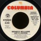 "DENIECE WILLIAMS--""GOD IS AMAZING""/JOHNNIE TAYLOR--""GOD IS STANDING BY"" 45 RPM 7"" Vinyl"