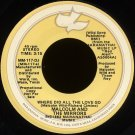 """MALCOLM AND THE MIRRORS--""""WHERE DID ALL THE LOVE GO"""""""" (3:15 - STEREO/MONO) 45 RPM 7"""""""" Vinyl"""