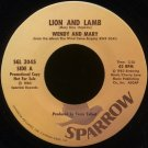 "WENDY AND MARY--""LION AND LAMB"" (2:20) (Stereo/Stereo) 45 RPM 7"" Vinyl"