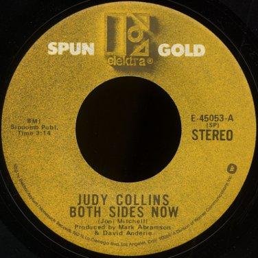 "JUDY COLLINS--""BOTH SIDES NOW"" (3:14)/""AMAZING GRACE"" (4:04) 45 RPM 7"" Vinyl"