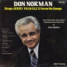 DON NORMAN--SINGS JERRY FALWELL'S FAVORITE SONGS Vinyl LP (Sealed)