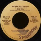 "RICK CUA--""WE ARE THE CHOSEN"" (3:51)/""DON'T SAY SUICIDE"" (3:30) 1985 45 RPM 7"""