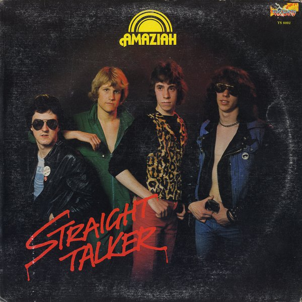 AMAZIAH--STRAIGHT TALKER 1980 Vinyl LP (Canadian Pressing On Red Vinyl)