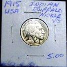 1915 BUFFALO NICKLE-VERY GOOD