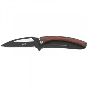 Black Blade Liner Lock Knife