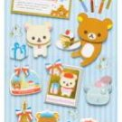 San-X Rilakkuma Birthday 3-D Sticker - Travel & Paris
