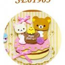 San-X Rilakkuma 3-D Sticker - Birthday