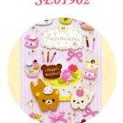 "San-X Rilakkuma ""Birthday"" 3-D Sticker - Cupcake, Macaroon"