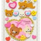 "San-X Rilakkuma ""Thank You"" 3-D Sticker - Heart"