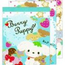 "San-X Berry Puppy ""Strawberry"" Series Mini Memo - Set of 4"