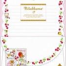 San-X Rilakkuma Strawberry Series Letter Set