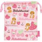 San-X Rilakkuma Drawstring Bag - Strawberry Love Series