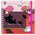"San-X Kutusita Nyanko ""Cat Cafe"" Spiral Notebook with Elastic Band"