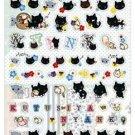 San-X Kutusita Nyanko Picnic Sticker with Glitter - #9007