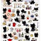 San-X Kutusita Nyanko Kitchen Series Sticker with Glitter - #204