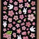 "Crux ""Sakura & Bunny"" Sticker with Gold Accent"