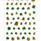 Micro Sticker &quot;Baby Chick & Clover Leaf&quot; with Gold Accent