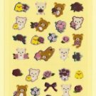 "San-X Rilakkuma ""Rose"" Series Shiny Micro Sticker - #Q2"
