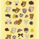 "San-X Rilakkuma ""Rose"" Series Shiny Micro Sticker - #Q2"