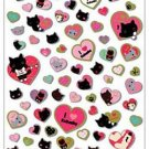San-X Kutusita Nyanko I Love Kutusita Sticker with Gold Accent - #601