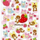 San-X Rilakkuma Strawberry Love Series Glittery Sticker - #502