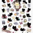 "San-X Kutusita Nyanko ""Romantic Music"" Series Sticker with Gold Accent - #1"