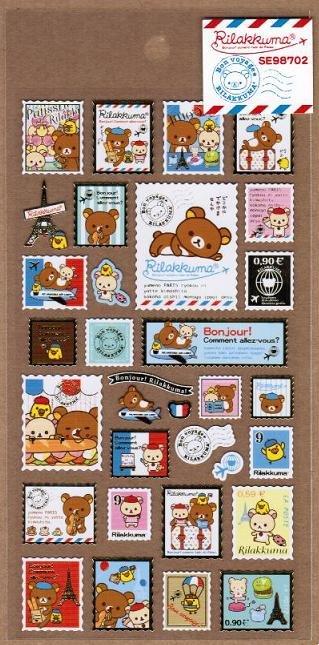San-X Rilakkuma Relax in Paris Series Sticker - #702