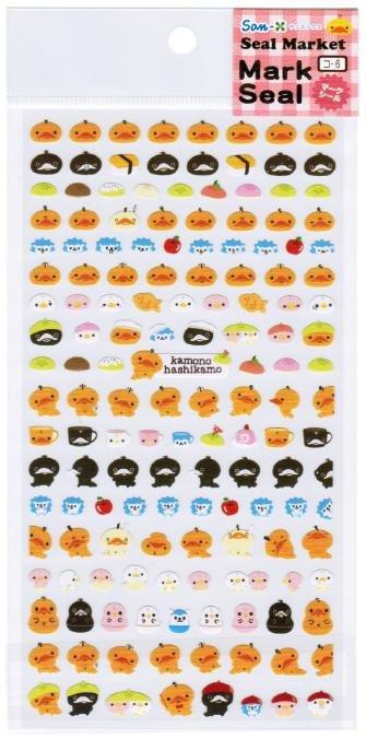 "San-X ""Kamono Hashikamo"" Mark Seal Collection Sticker"