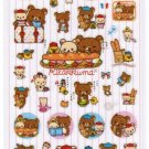 San-X Rilakkuma Relax in Paris Series Glittery Sticker - #9002
