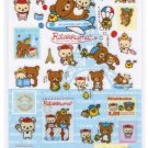 San-X Rilakkuma Relax in Paris Series Glittery Sticker - #9001