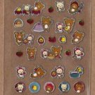 "San-X Rilakkuma ""Strawberry"" Series Shiny Micro Sticker - #Q3"