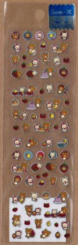 San-X Rilakkuma Strawberry Series Micro Sticker - #Q3
