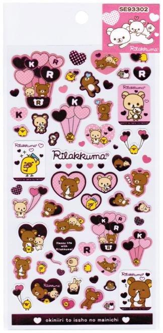 San-X Rilakkuma Heart Series Sticker - #2