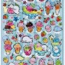 San-X Mamegoma Fruit Parfait Series Sparkly Sticker - #502