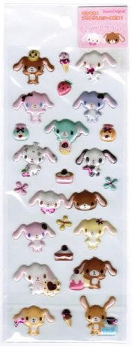 Sanrio Sugarbunnies Spongy Sticker with Hot Pink Accent
