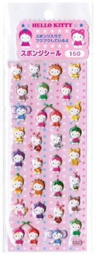 Sanrio Hello Kitty in Costumes Spongy Sticker
