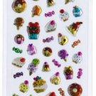 """Sparkly Epoxy Sticker """"Sweets/Desserts"""""""