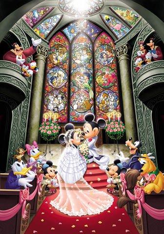 """Tenyo Disney Mickey & Minnie """"Fantasy Celebration"""" - 500 Pieces Jigsaw Puzzle"""