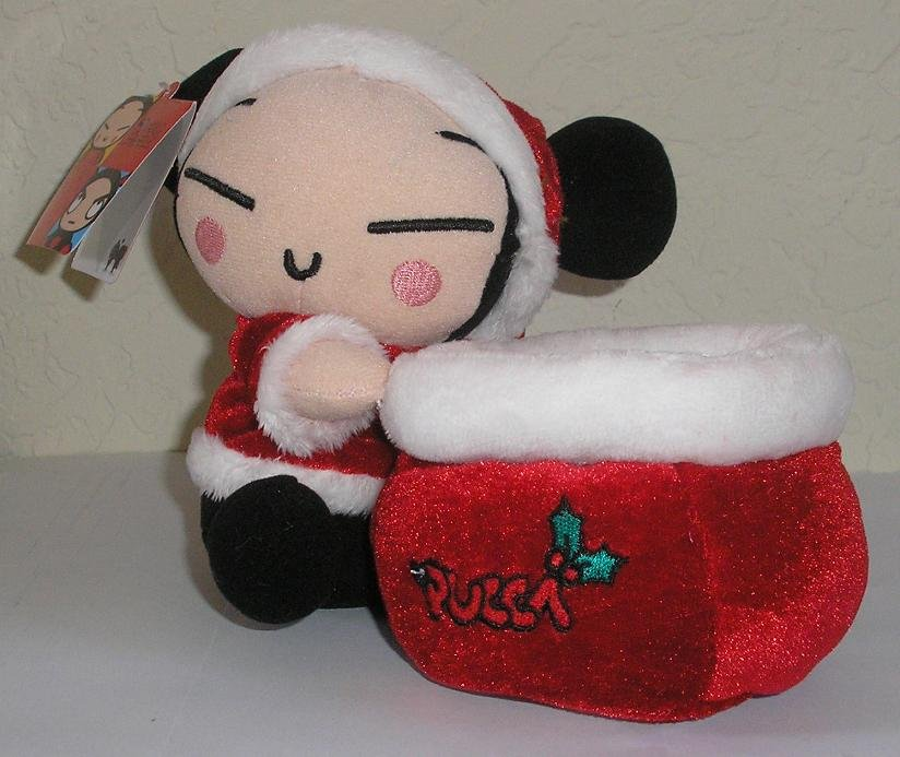 Pucca in Red Santa Outfit Cell Phone or Pencil/Pen Holder
