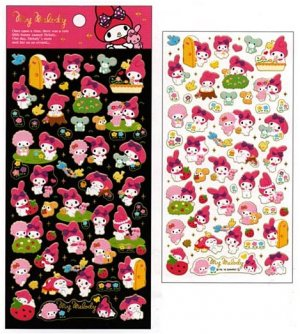 Sanrio My Melody &quot;Once Upon A Time&quot; Epoxy Sticker with Gold Accent