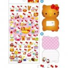 Sanrio Hello Kitty Spongy Sticker & Small Card
