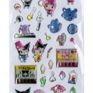 "Sanrio ""My Melody & Kuromi"" Summer Series Epoxy Sticker with Silver Accent"