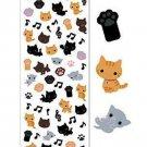 San-X Kutusita Nyanko Tail & Paw Series Glittery Sticker - #801